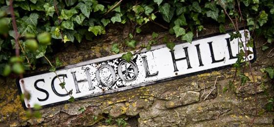School Hill Sign