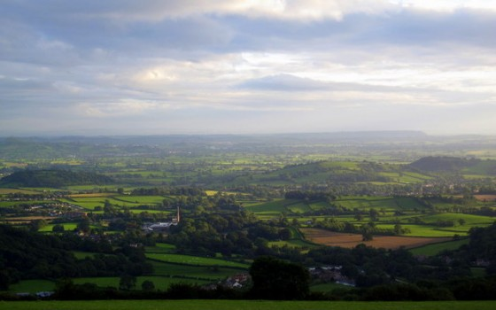 Looking over the Somerset Levels