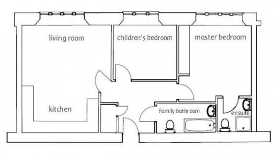 no 3 School House Wookey Hole Somerset floorplan